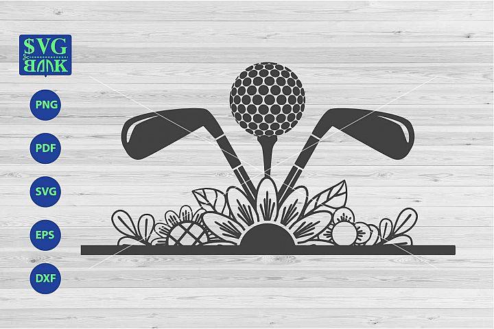 Golf svg, golf with flower svg, golfing cut file