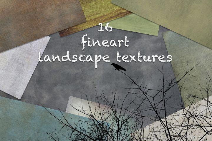 16 Fine art Landscape format textures