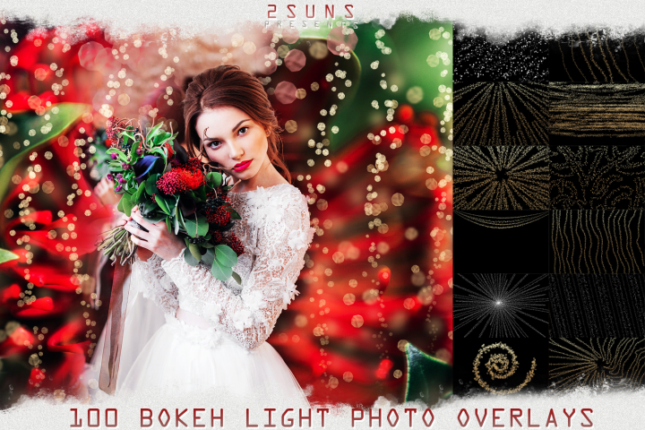100 Wedding Sparklers Photoshop Overlays Christmas textures