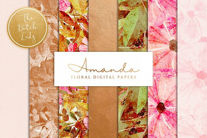 Floral Backgrounds & Paper Designs - Amanda