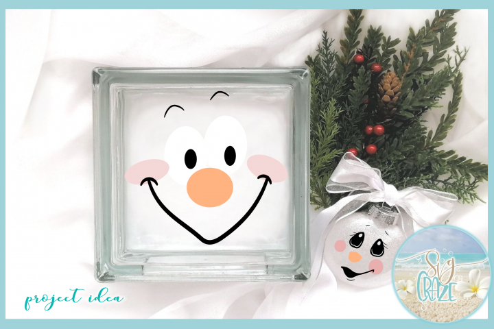Snowman Face Bundle SVG Dxf Eps Png PDF Files for Cricut example 2