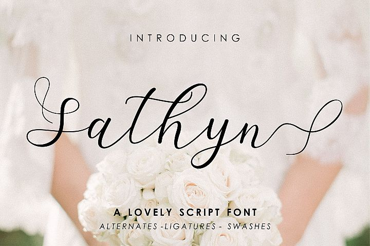 Sathyn Lovely Script Font