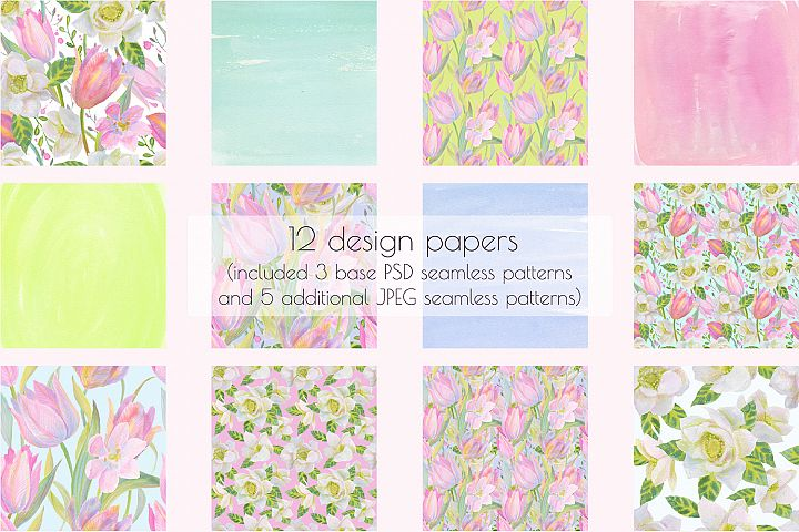 Floral Design Pack (watercolor & pastel) - Free Design of The Week Design 2