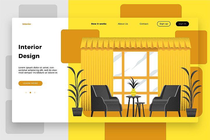 Interior Design Room - Banner & Landing Page