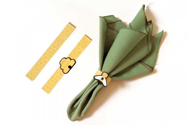 Bee Napkin Ring SVG File Set