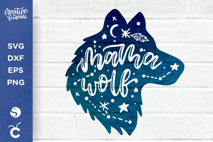 Mama Wolf SVG DXF, Pack Leader Svg, Wolf Svg
