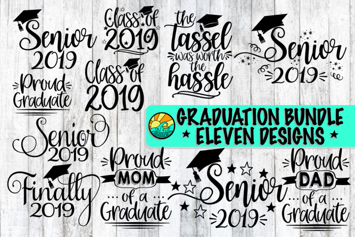 Senior 2019 Graduation Bundle - SVG PNG DXF EPS