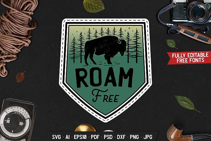 Camp Wild Badge Logo Vector Adventure Retro Graphic SVG File