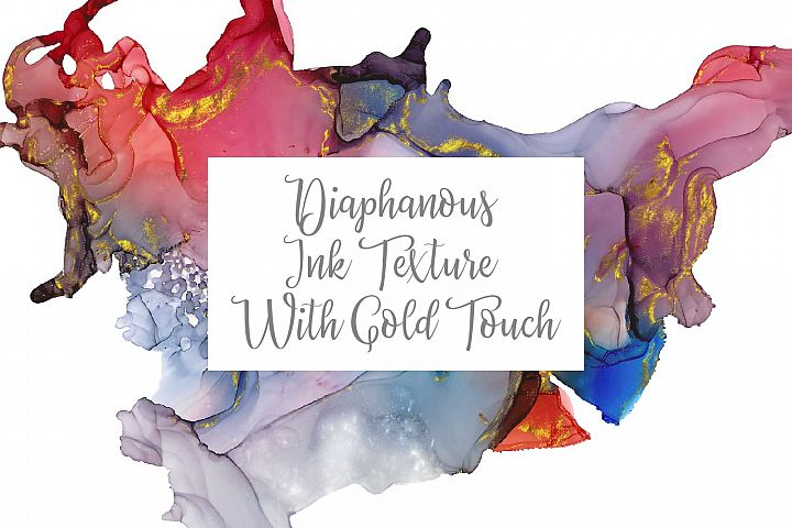 Diaphanous Ink Texture With Gold Touch