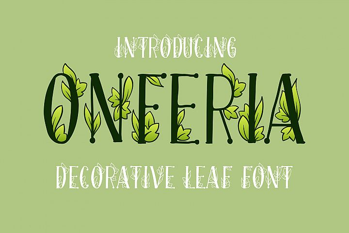 Onferia - decorative leaf font