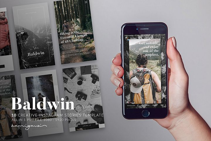 Baldwin Instagram Stories Template