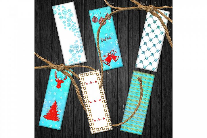Winter Bookmarks,Christmas Tree Bookmarks, Printable Images