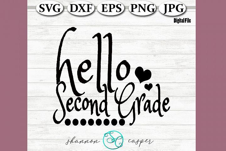 Back to School | Second Grade SVG