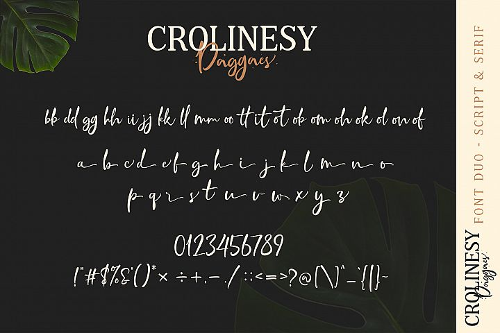 Crolinesy Daggaes Font Duo example image 5