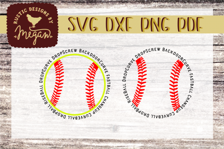 Softball Round SVG DXF Comm