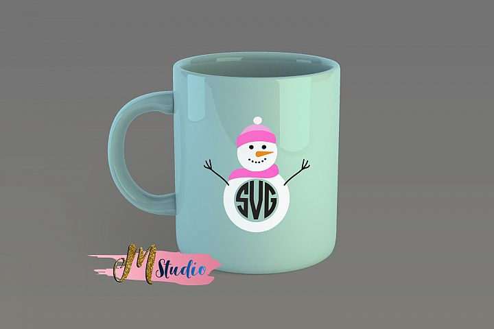 Snowman svg, for Silhouette Cameo or Cricut example 1