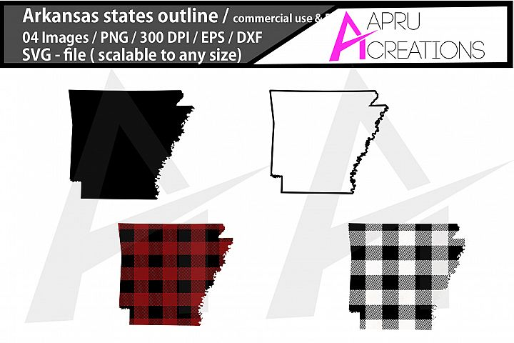 arkansas vector map / arkansas outline / arkansas plaid