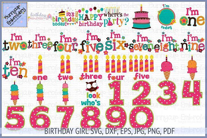Birthday Girl SVG, Clipart, Printables