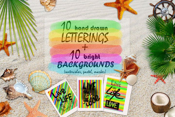 Lettering LIVE the LIFE you LOVE. Hand drawn