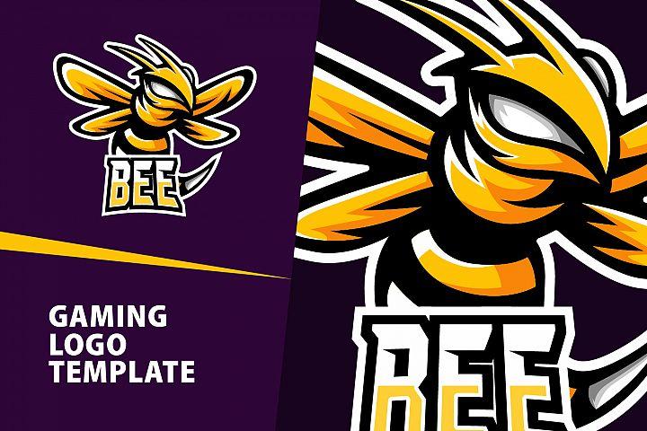 Bee Gaming Logo Template