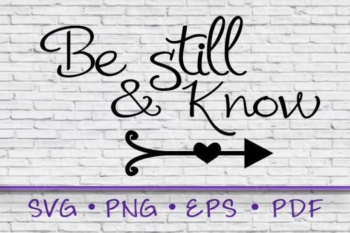 Be Still, Be Still and Know, Be Still and Know SVG
