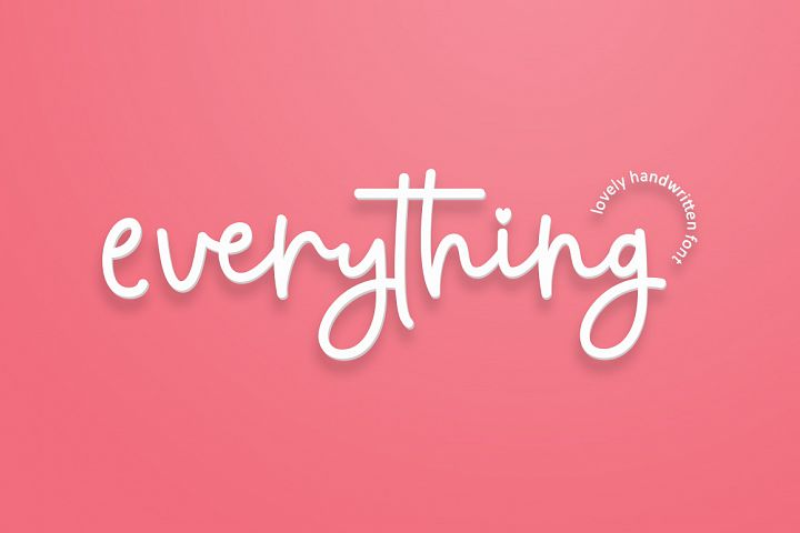 everything script font