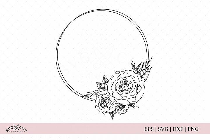 Flower Frame SVG, Flower Wreath SVG