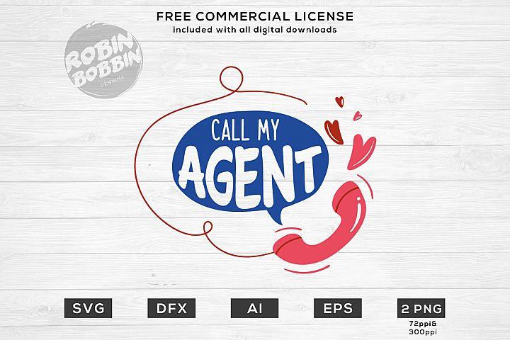 Call My Agent - Monogram SVG Files
