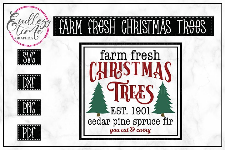Farm Fresh Christmas Trees- A Vintage Christmas SVG