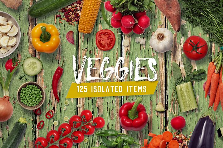 Veggies - Isolated Food Items
