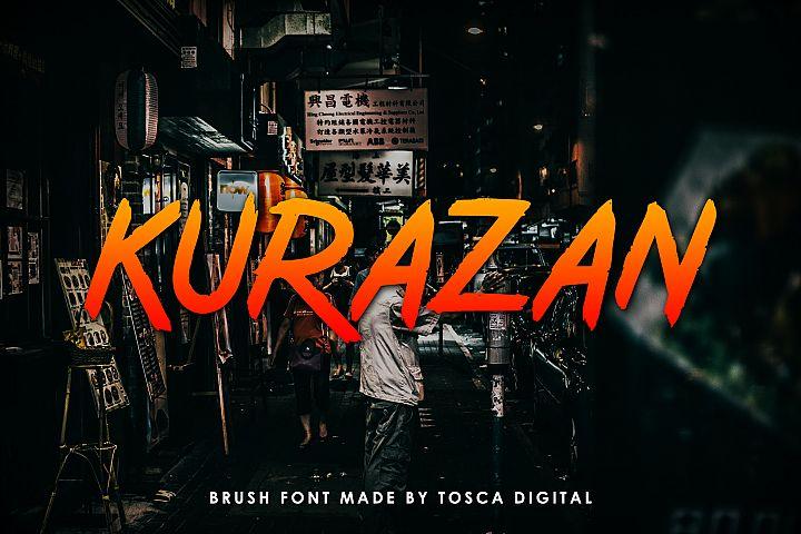 Kurazan Brush Font