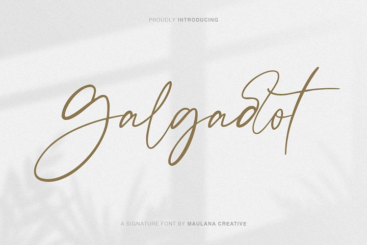 Galgadot Signature Brush Font