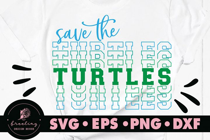 Save The Turtles SVG DXF EPS PNG