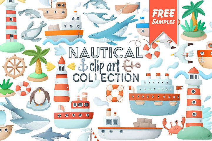 Nautical clip art collection