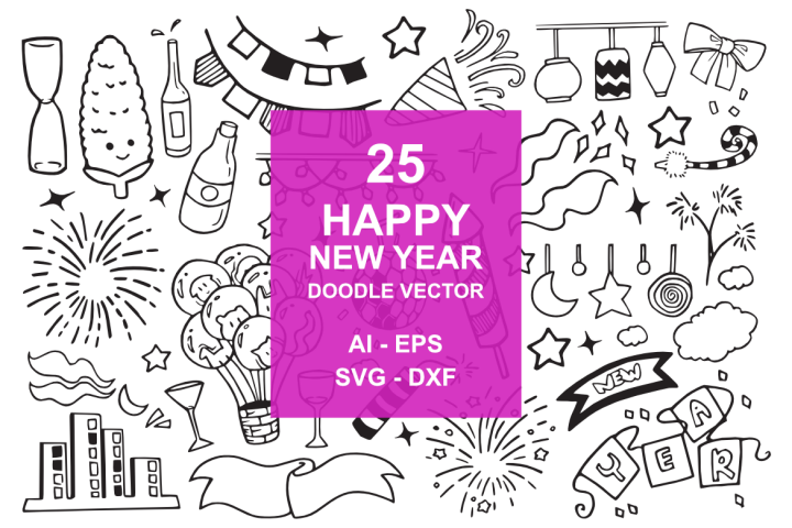 25 New Year Doodles