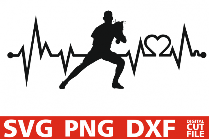 Baseball player svg, Heart Beat svg, EKG svg, Sports vector