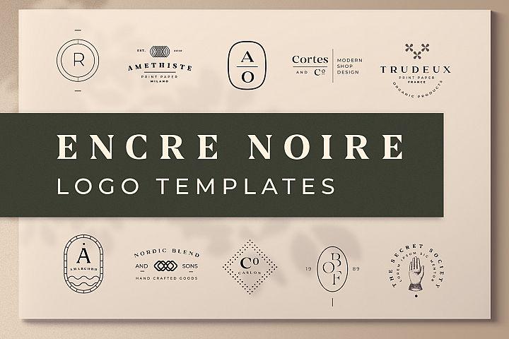 Encre Noire Logo Template