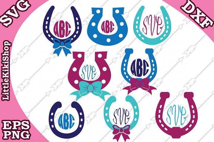 Horseshoe Monogram Svg,Horseshoe clipart, Wild West Svg,