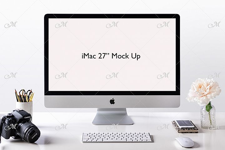Apple iMac Mock-up. PSD & JPEG