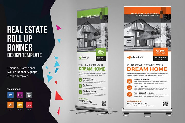 Real Estate Roll up Banner Signage