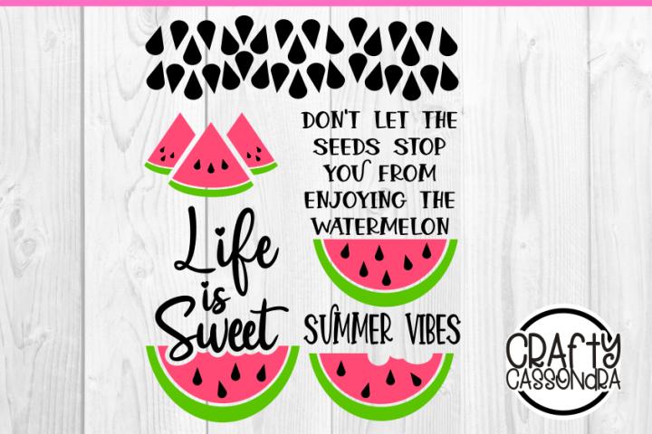 Watermelon svg - summer time summer vibes - inspirational