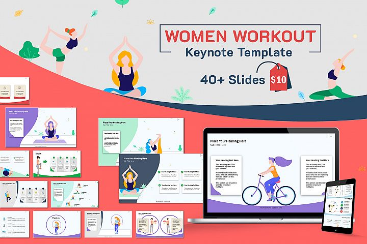 Women Workout Keynote Template
