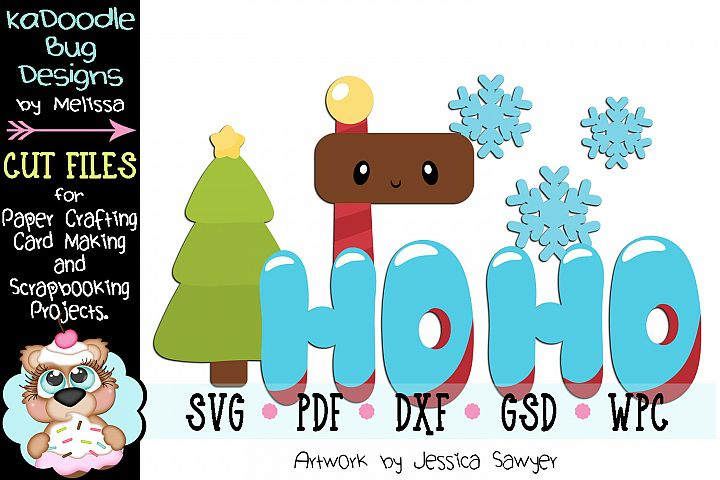 Kawaii North Pole Title Cut File - SVG PDF DXF GSD WPC