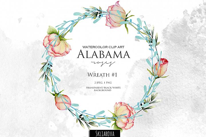 Alabama roses. Wreath #1