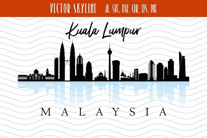 Kuala Lumpur Svg Malaysia city Vector Skyline