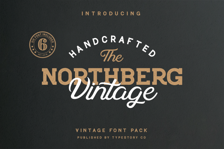 Northberg vintage font pack