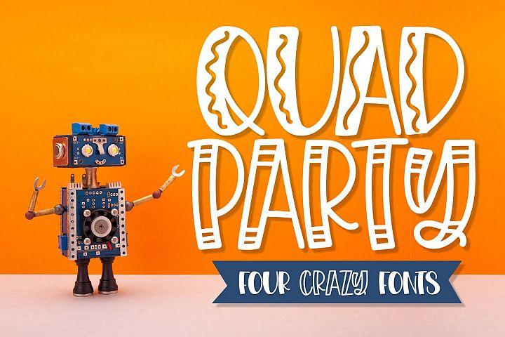 Quad Party - A Crazy Four Font Family