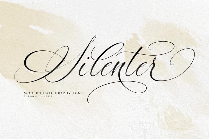 Silenter // Modern Calligraphy Font
