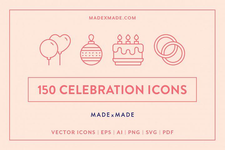 Line Icons - Celebration