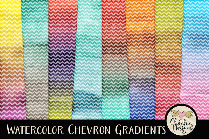 Watercolor Background Textures - Chevron Watercolor Papers